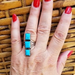 Vintage sterling and crystal ring 7